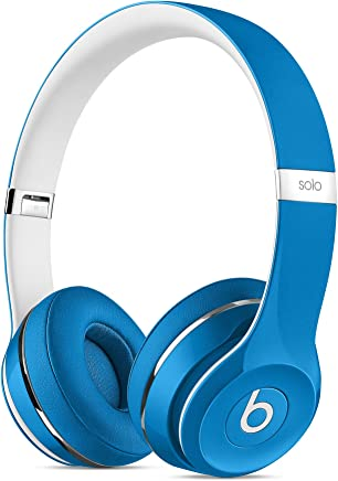 Beats Solo2 WIRED On-Ear Headphones Luxe Edition NOT WIRELESS - Blue (Renewed)