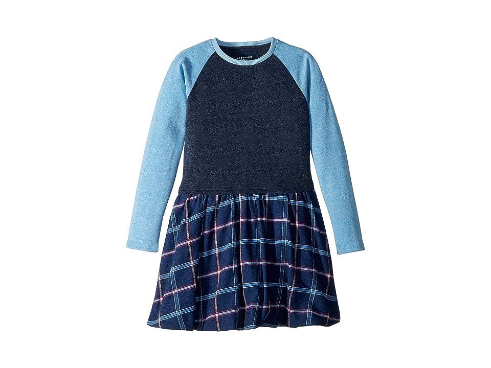 Toobydoo Denver Jersey Knit Dress (Toddler/Little Kids/Big Kids) (Blue Plaid) Girl