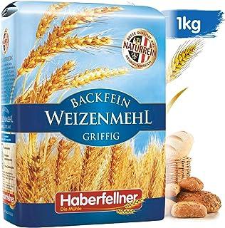 Weizenmehl 1kg Typ 405 griffig von Haberfellner | Hochwertiges Mehl - ohne Gentechnik und pestizid-kontrolliert | Geeignet als Nudelmehl