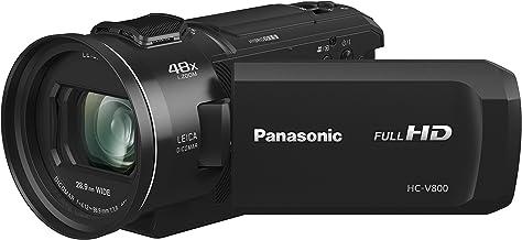 "Panasonic HC-V800K FHD Cinema-like Camcorder, 24x Leica Dicomar Lens, 1/2.5"" Bsi Sensor, Three O.I.S. Stabilizer Systems,B..."