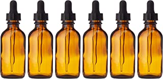 Premium Vials, Pack of 12, 2 oz Amber Glass Bottles, with Glass Eye Droppers