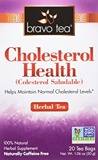 Bravo Tea, Cholesterol Health Herbal Tea, Caffeine Free, 20 Tea Bags