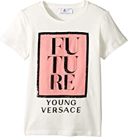 Versace Kids - Short Sleeve 'Future' Logo T-Shirt (Big Kids)
