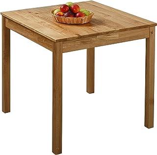 Krok Wood Table à Manger en chêne Tomas en Bois Massif (75 x 75 x 75 cm)