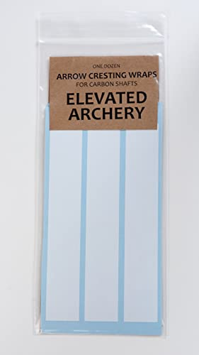 "Elevated Archery 6"" Arrow Cresting Wraps for Carbon Shafts Pack of 12"