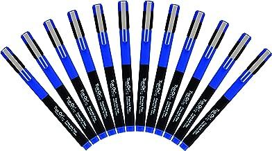 Tub Of Fine Point Markers, Fine Tip Drawing Pens, Porous Fine liner Pen, 12 Pens (Blue)