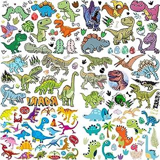 6 Vellen COKTAK 3D Dinosaurus Jongens Tijdelijke Tatoeages Kinderen Partij Meisjes Tatoeëren Set Kinderen Gezicht Tijdelij...