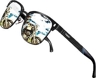 ATTCL Men's Driving Polarized Semi-Rimless Sunglasses Al-Mg Ultra Light