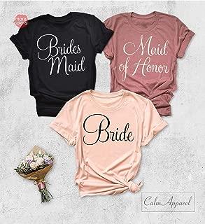 Bridesmaid Shirt, Bride Squad Shirts, Bride Bachelorette Party T-Shirts, Bridal Party Tanks, Maid of Honor