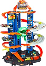 Hot Wheels City Robo T-Rex Ultimate Garage Multi-Level Multi-Play Mode Stores 100 Plus 1:64 Scale Cars Gift idea for Kids ...
