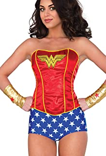 Rubie's 840007-S/M Women's Corset, Wonder Woman, Small/Medium