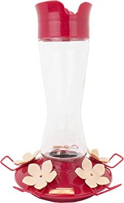 Perky-Pet 9201-6 Top-Fill Pinch-Waist Glass Hummingbird Feeder – 12 oz