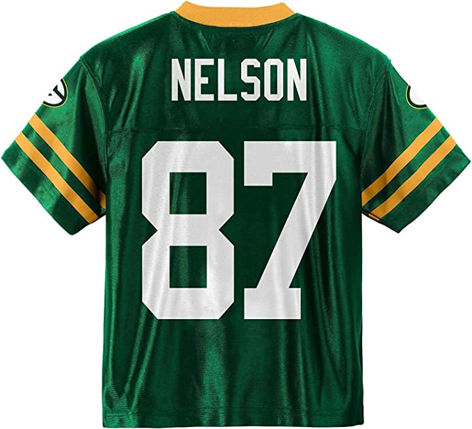 Jordy Nelson Green Bay Packers Green Home Player Jersey Kids