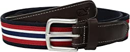Prep Stripe Canvas Club Belt