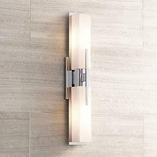 Midtown Modern Wall Light Chrome 23 1/2