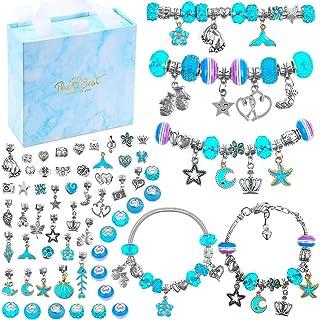Charm Bracelets Kit for Girls, Flasoo 66 Pcs Jewelry Making Kit with Bracelet Beads, Jewelry Charms, Bracelets for Jewelry...