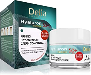 HYALURON FUSION by Delia - 50+ Anti-Wrinkle - Firming Concentrate Day and Night Cream - 50ml