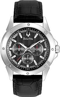 Bulova - 96C113 - Reloj para Hombres, Correa de Cuero Color Negro