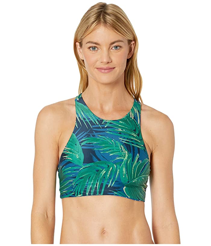 Carve Designs Sanitas Reversible Bikini Top (Azul Palms/Shibori Dots) Women