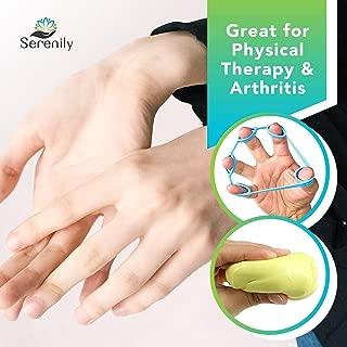 Serenily Hand Exerciser Kit. 7 Piece Finger Exerciser & Hand Grip Strengthener Kit suitable for Carpal Tunnel, Arthritis, Occupational & Physical Therapy. Includes Therapy Putty with Hand Strengthener