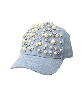 Denim with Pearls Baseball Cap