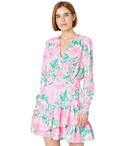 Lilly Pulitzer Cristiana Stretch Dress (Pink Blossom Try Your Zest) Women