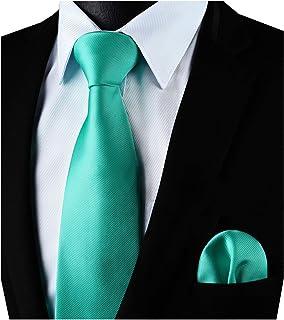 Fazzoletto Set Rosso Giallo Verde Turchese in 35 colori Cravatta Uomo Cravatta Tie