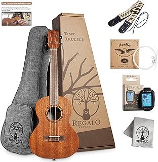 Sponsored Ad - Tenor Ukulele Regalo Guitars 26 Inch Ukelele Kit For Beginners Kids Adults Professional Wooden Mahogany Uke...