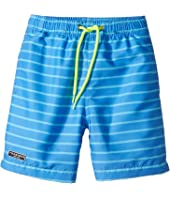 Toobydoo - Aqua Blue Pinstripe Swimsuit - Regular (Infant/Toddler/Little Kids/Big Kids)