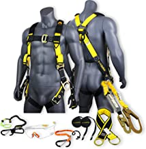 KwikSafety (Charlotte, NC) SUPERCELL KIT | 3D Full Body Tongue Buckle Safety Harness, 6' Lanyard, Tool Lanyard, 3' Anchor ...