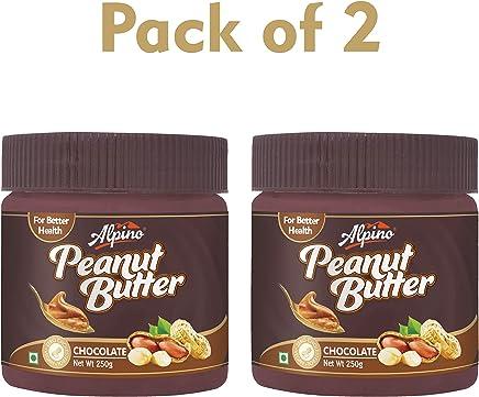 Alpino Chocolate Peanut Butter, 250g (Pack of 2)