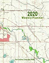 2020 Weekly Planner: Fort Collins, Colorado (1948): Vintage Topo Map Cover