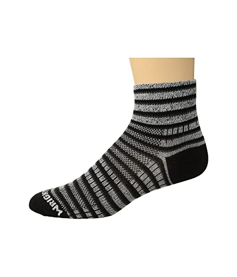 Wrightsock Coolmesh II Quarter Stripes Black/White/Grey Outlet Geniue Stockist Cheap Footlocker Discount Buy Cheap Sale 2018 New 6TtpHO