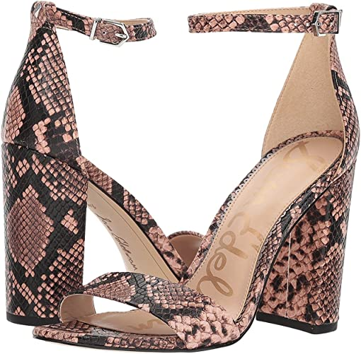 Dusty Rose Royal Snake Print Goat Leather
