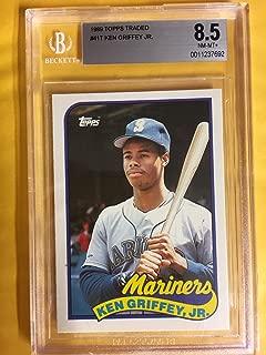 Ken Griffey Jr. Graded BGS 8.5 NM-MT+ (Baseball Card) 1989 Topps Traded - Box Set [Base] #41T