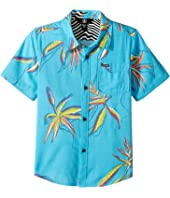 Volcom Kids - Motel Floral Short Sleeve Shirt (Toddler/Little Kids)