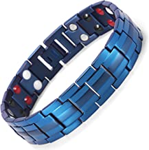 Rainso Mens Titanium Magnetic Therapy Bracelets for Arthritis Wristband Adjustable