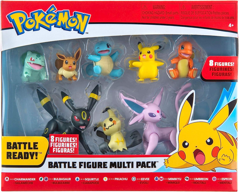 Pokémon Battle Figure 8-Pack - Features Charmander, Bulbasaur, Squirtle,...