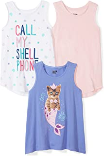 Amazon Brand - Spotted Zebra Girls' Toddler & Kids 3-Pack Sleeveless Tank Tops