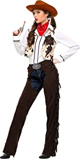 Women's Western Cowgirl Costume Adult Cowgirl Chaps Costume