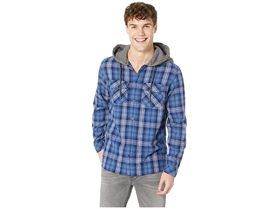 Quiksilver The Magston Hooded Flannel (Medieval Blue Magston) Men