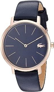 Lacoste Women's Gold Quartz Watch with Leather Strap, Blue, 16 (Model: 2001071)