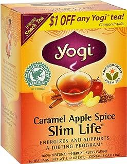 Yogi Snack Tea 100% Natural Tea Caramel Apple Spice - 16 Tea Bags - Case of 6