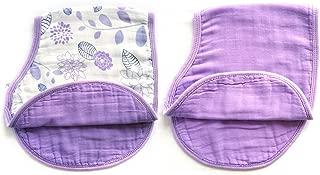 Baby Bibs,Baby Burp Cloth,Baby Feeding Drooling Teething Bibs With Snap 2 Pack(Purple,23.5''x 9'')