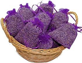 vom-Achterhof 10 Lavendelsäckchen mit 200 g !!!! frischen französischem Lavendel Lavendelblüten der Provence in Lebensmittelqualität gefüllt ! Duftsäckchen