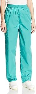Cherokee Women's Workwear Elastic Waist Cargo Scrubs Pant, Surgical Green, X-Small Petite