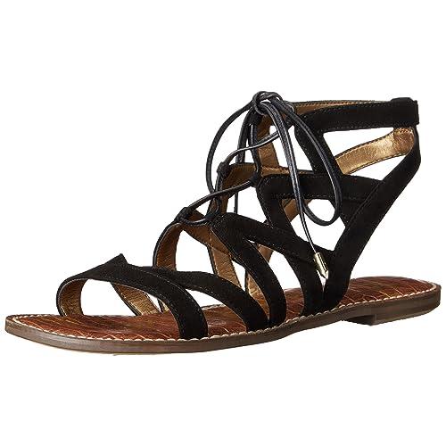 58ac8f82f Black Suede Strappy Gladiator Sandals  Amazon.com