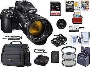 Nikon COOLPIX P1000 Digital Point & Shoot Camera (Black), Bundle Kit with Camera Case + 32GB SD Card + 77mm Filter Kit + Cleaning Kit + Card Reader + Memory Wallet + Mac Software Package