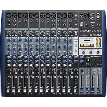 PreSonus StudioLive AR16c 18-Channel USB-C Hybrid Digital/Analog Performance Mixer, Unpowered