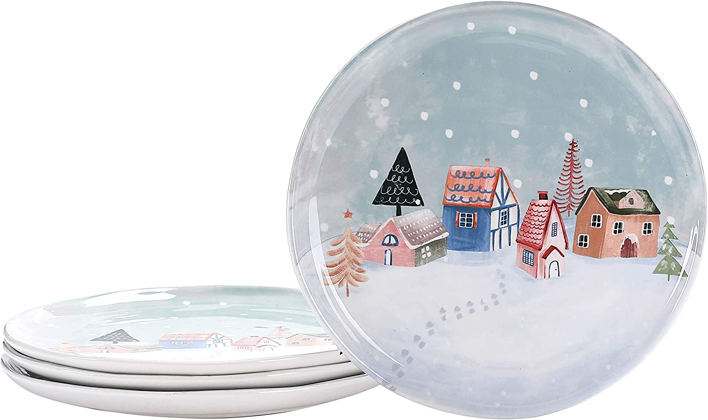 Bico Nordic Village 11 inch Dinner Plates マート of Pasta 4 Set おトク for